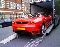 Ferrari 430 Spider being loaded with ease